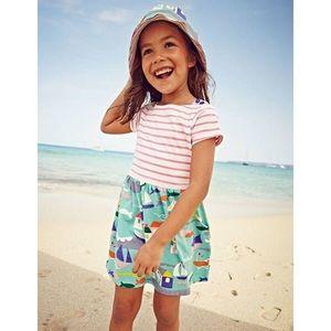 Mini Boden Girls Hopscotch Sailboat Striped Dress
